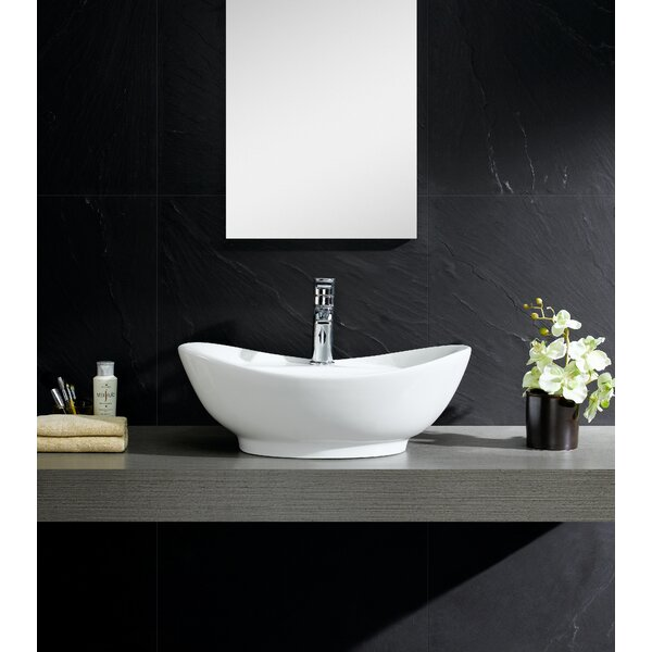 Fine Fixtures Modern Vitreous Large Oval Vessel Bathroom