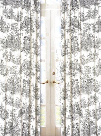 Toile Curtains & Drapes You'll Love | Wayfair
