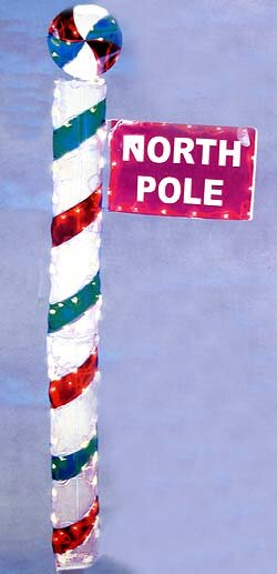 North Pole Sign Lighted Gel