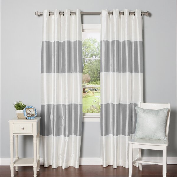 Best Home Fashion, Inc. Striped Blackout Thermal Curtain Panels ...
