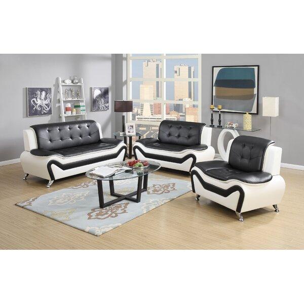 Container Wanda 3 Piece Living Room Set & Reviews | Wayfair