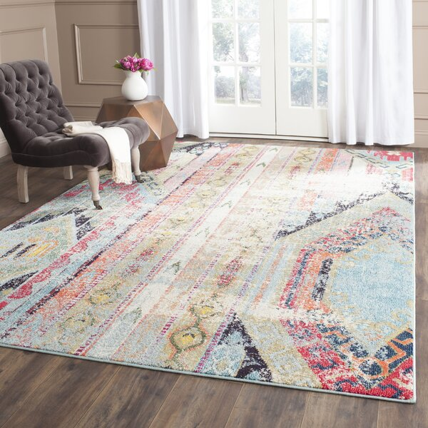 Zanzibar Green/Red Area Rug