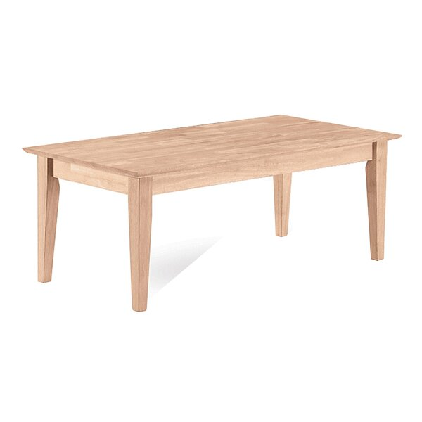 International Concepts Unfinished Wood Shaker Tall Coffee Table