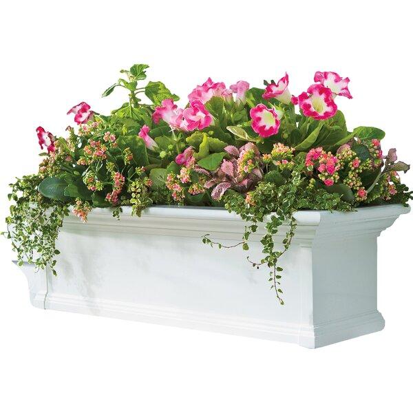 Plow & Hearth Yorkshire Self-Watering Plastic Window Box Planter ...