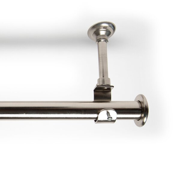 RoomDividersNow Hanging Single Curtain Rod and Hardware Set ...