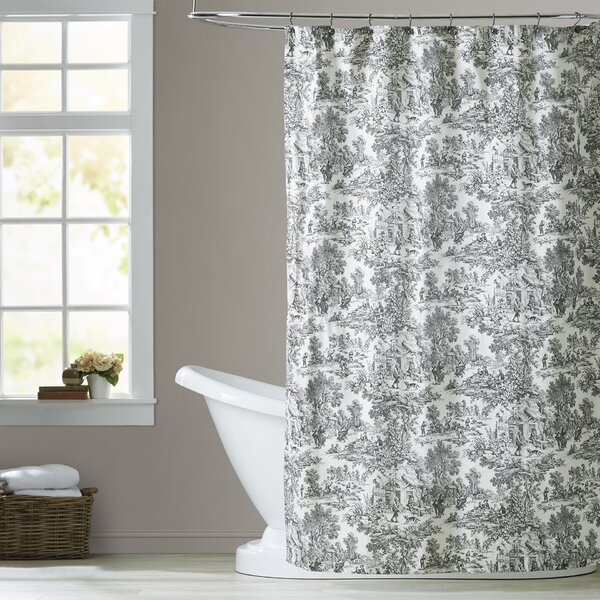 One Allium Way Lablanc Cotton Toile Shower Curtain & Reviews | Wayfair