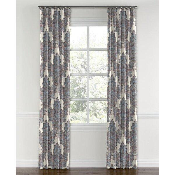 Loom Decor Paisley Blackout Rod Pocket Single Curtain