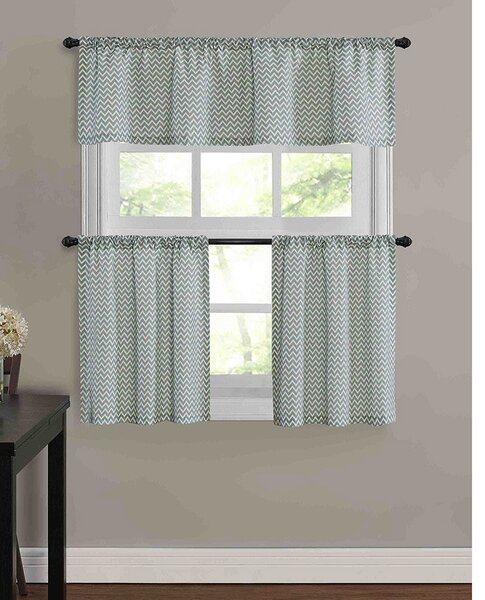 Chevron Valances & Kitchen Curtains You'll Love | Wayfair
