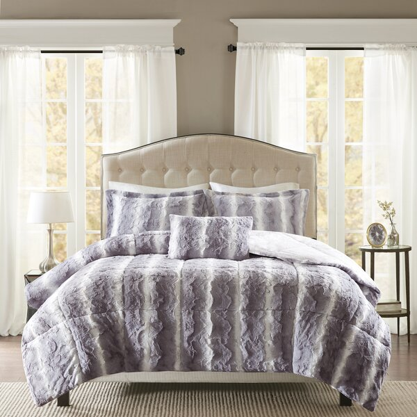 Mercer41 Morrison Faux Fur 4 Piece Comforter Set & Reviews
