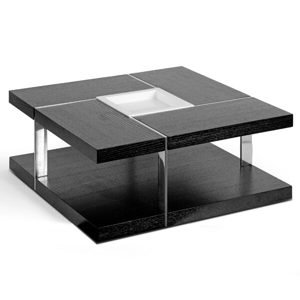 - Glamour Home Decor Aira Square Coffee Table With Tray Top Wayfair
