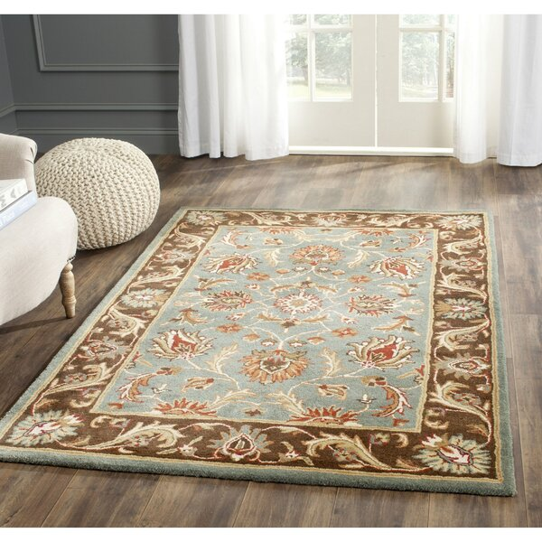 Charlton Home Cranmore Hand Tufted Blue Brown Area Rug