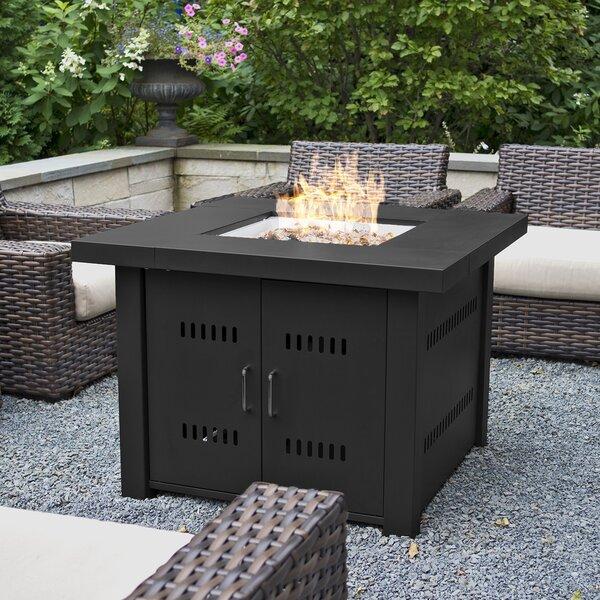 Belleze Propane Gas Firepit Table Amp Reviews Wayfair