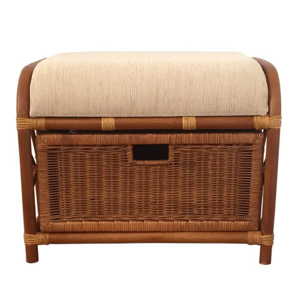 - Rattan Storage Ottoman Wayfair