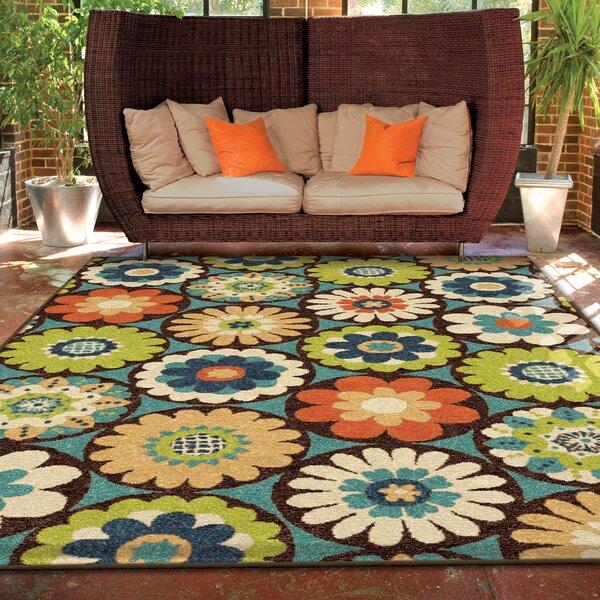 Threadbind Nicole Vissage Green Indoor Outdoor Area Rug