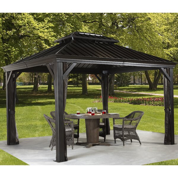 Sojag Messina 10 Ft W X 10 Ft D Metal Permanent Gazebo