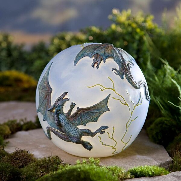 Wind Amp Weather Lighted Resin Dragon Gazing Globe Amp Reviews