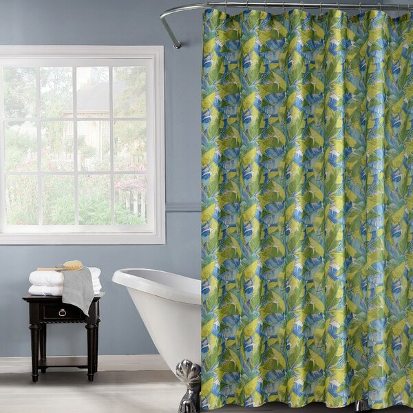 Dainty Home Palm Leaf Shower Curtain   Wayfair