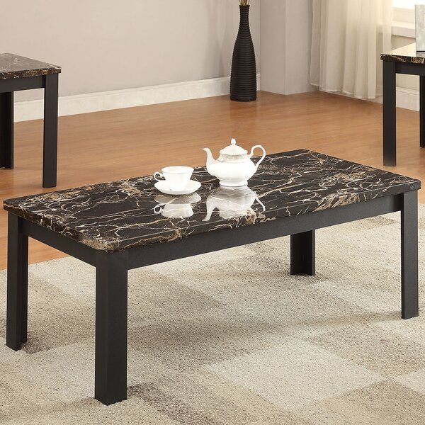 ACME Furniture Carly Faux Marble 3 Piece Coffee Table Set & Reviews |  Wayfair - ACME Furniture Carly Faux Marble 3 Piece Coffee Table Set