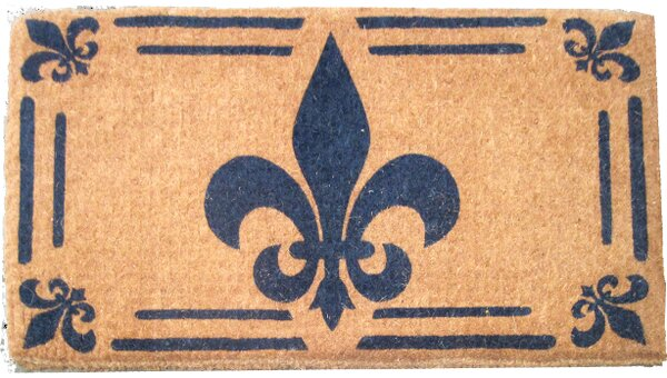 Imports Decor Woven Fleur De Lis Doormat Reviews Birch Lane