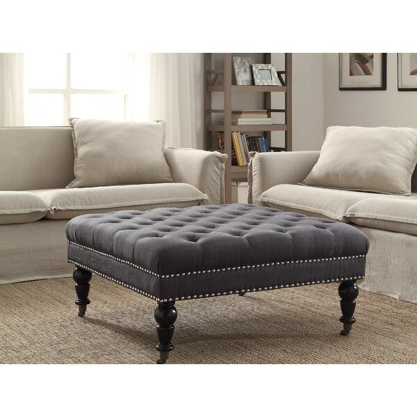 House of hampton gahn square tufted ottoman reviews for Where to put ottoman