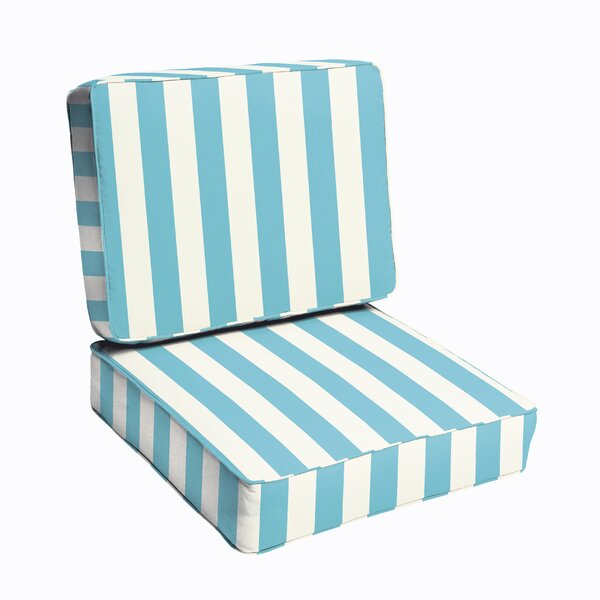 Beachcrest Home Pearl Corded Stripe 2 Piece IndoorOutdoor Dining – 2 Piece Outdoor Chair Cushions