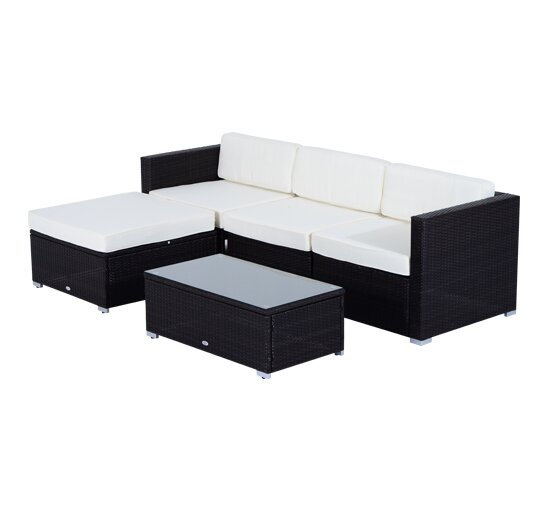 Camron lounge seating group with cushion reviews allmodern for Aosom llc outsunny chaise lounge