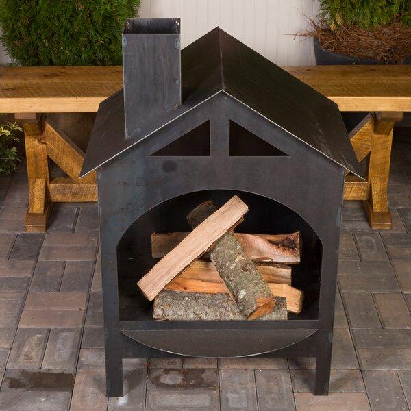Plan Foyer Extérieur Acier : Ember haus steel wood burning outdoor fireplace