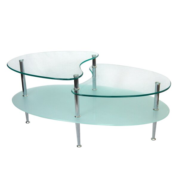 QUICK VIEW. Cate Glass Oval Coffee Table - Glass Coffee Tables You'll Love Wayfair