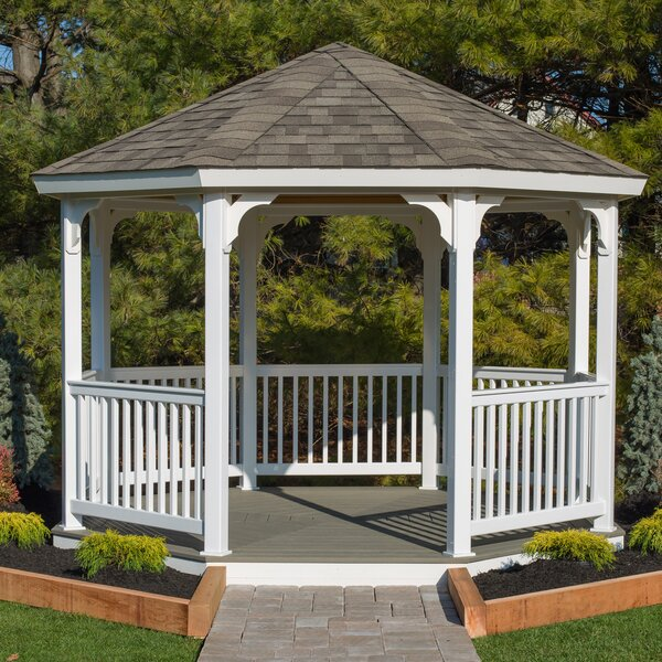 Yardcraft Octagon 12 Ft W X 12 Ft D Vinyl Permanent