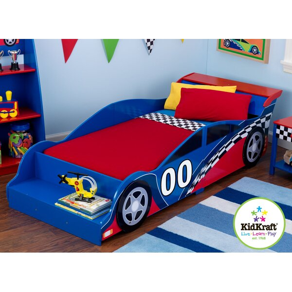 kidkraft racecar toddler car bed reviews wayfair