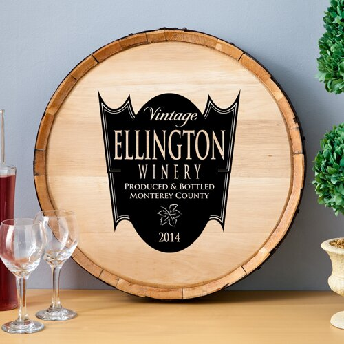 Personalized Gift Wine Barrel Home D Cor Sign Wall D Cor