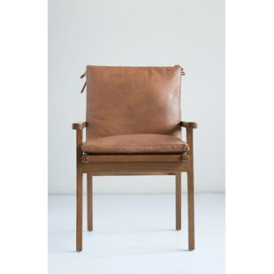 Affordable Price Apatow Leather & Cedar Wood Armchair by Bungalow Rose Reviews (2019) & Buyer's Guide