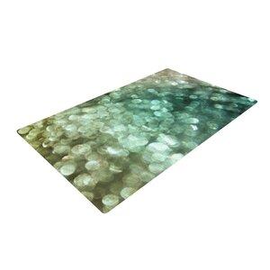Debbra Obertanec Teal Sparkle Glitter Green Area Rug