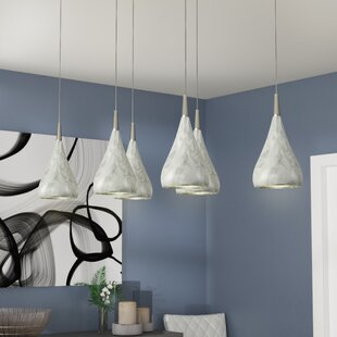 Alan Rectangle 6-Light Pendant by Orren Ellis