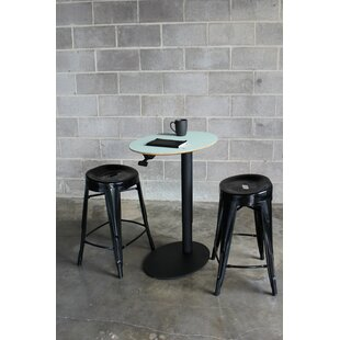 Oval 3 Piece Adjustable Pub Table Set Fräsch