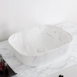 Isabella Plus Vitreous China Rectangular Vessel Bathroom Sink
