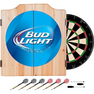 Bud Light Dartboard and Cabinet Set by Trademark Global