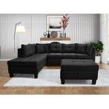 Dife 105.1 Wide Corner Sectional with Ottoman by Latitude Run®