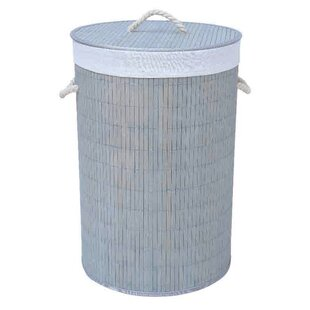 Home Basics Round Bamboo Hamper