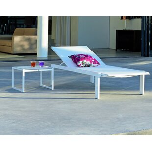 Orren Ellis Santistevan Reclining Chaise Lounge with Table