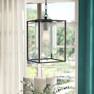 Didmarton Glass 1-Light Square/Rectangle Pendant ByDarby Home Co