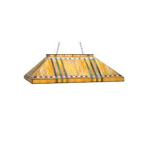 Meyda Tiffany Prairie Corn Oblong 6-Light Pool Table Light