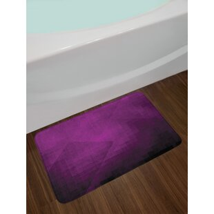 Abstract Purple Eggplant Bath Rug
