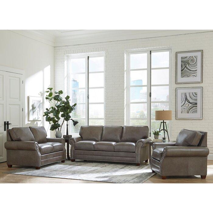 Amazing Pedigo 3 Piece Leather Living Room Set Machost Co Dining Chair Design Ideas Machostcouk