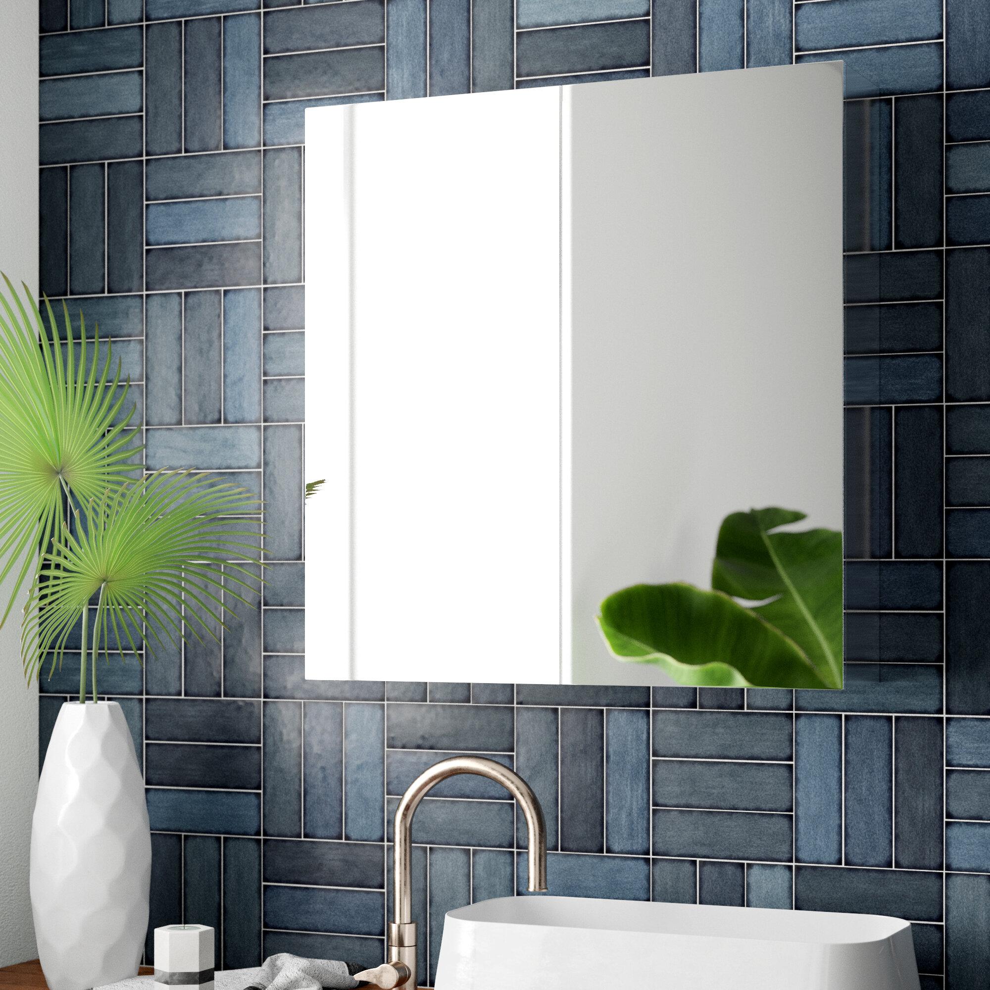 Mercury Row Yerger Modern Contemporary Storage Frameless Bathroom Vanity Mirror Wayfair