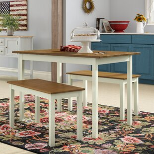 Dwyer Dining Set With 2 Benches By Brayden Studio