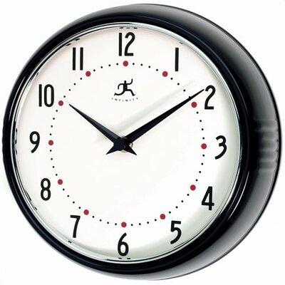 Brayden Studio Maysonet 9.5 Wall Clock Finish: Black