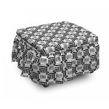 Abstract Sqaure Ottoman Slipcover (Set of 2) by East Urban Home