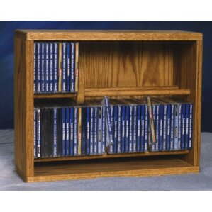200 Series 80 CD Multimedia Storage Rack by Wood Shed