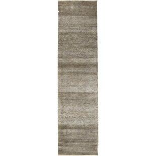 Savings One-of-a-Kind Hand-Knotted 2'9 x 9'11 White/Black Area Rug ByBokara Rug Co., Inc.